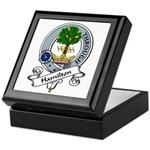Hamilton Clan Badge Keepsake Box