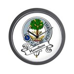 Hamilton Clan Badge Wall Clock