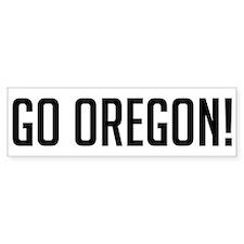 Go Oregon! Bumper Bumper Sticker