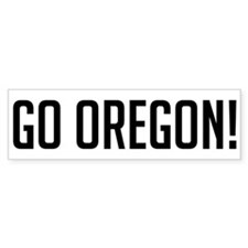 Go Oregon! Bumper Bumper Sticker