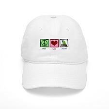 Peace Love Parrots Baseball Cap
