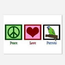 Peace Love Parrots Postcards (Package of 8)