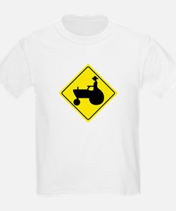Tractor Crossing Sign T-Shirt