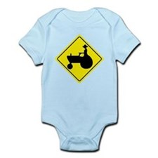 Tractor Crossing Sign Infant Bodysuit
