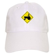 Tractor Crossing Sign Baseball Cap