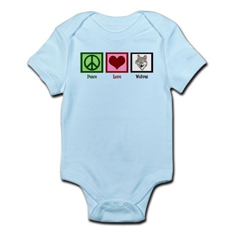 Peace Love Wolves Infant Bodysuit