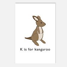 k is for kangaroo Postcards (Package of 8)