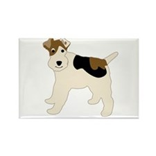 Wire Fox Terrier Rectangle Magnet