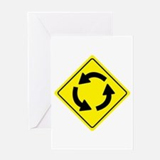 Roundabout Sign Greeting Card