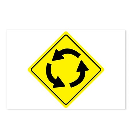 Roundabout Sign Postcards (Package of 8)