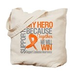 Supporting Hero Leukemia Tote Bag