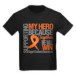 Supporting Hero Leukemia Kids Dark T-Shirt