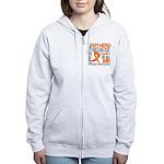 Supporting Hero Leukemia Women's Zip Hoodie