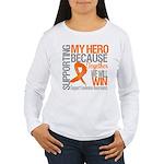 Supporting Hero Leukemia Women's Long Sleeve T-Shi