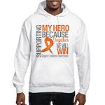 Supporting Hero Leukemia Hooded Sweatshirt