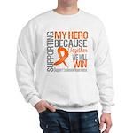 Supporting Hero Leukemia Sweatshirt