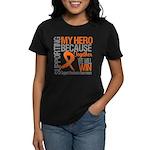 Supporting Hero Leukemia Women's Dark T-Shirt