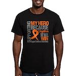 Supporting Hero Leukemia Men's Fitted T-Shirt (dar
