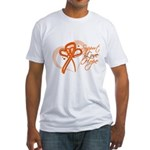 Leukemia Support Hope Fitted T-Shirt
