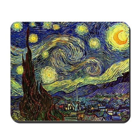 Starry Night by Van Gogh Mousepad