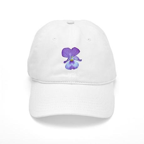 Purple Pansy Cap