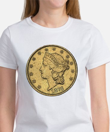 Liberty Head Double Eagle Double-Sided Women's T-S