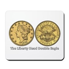 Liberty Head Double Eagle Double-Sided Mousepad