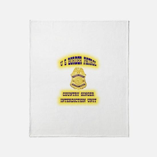 USBP Country Singer Interdict Throw Blanket