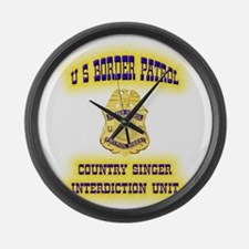 USBP Country Singer Interdict Large Wall Clock