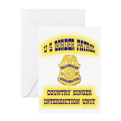 USBP Country Singer Interdict Greeting Card