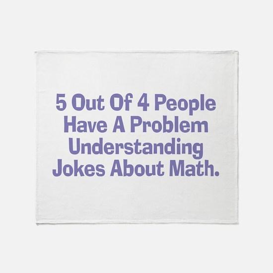 Math Jokes Throw Blanket