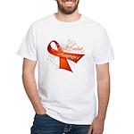 Leukemia Awareness White T-Shirt
