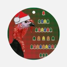 Turkey For Christmas Ornament (Round)
