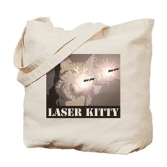 Laser Cats! Funny laser kitty pew pew Tote Bag