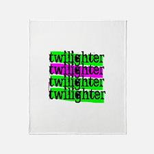 Twilight Christmas Tree Throw Blanket