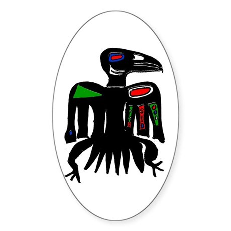 The Raven Sticker (Oval)