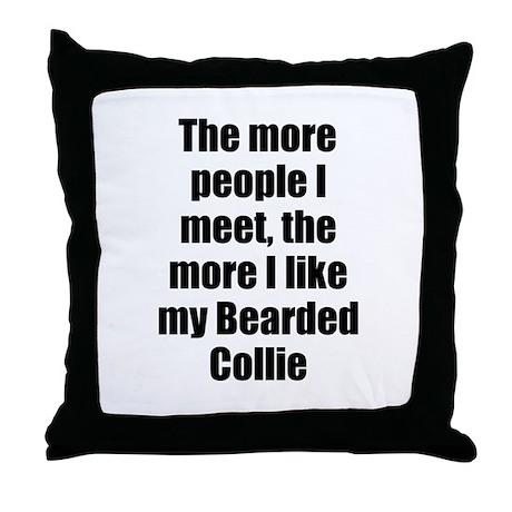 Bearded Collie Throw Pillow