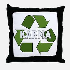 Recycle Karma Throw Pillow
