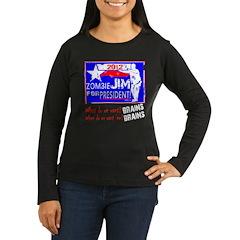 Zombie Jim For President Women's Long Sleeve Dark
