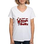 Santas Jingle Bells Women's V-Neck T-Shirt