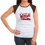 Santas Jingle Bells Women's Cap Sleeve T-Shirt