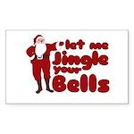 Santas Jingle Bells Sticker (Rectangle 50 pk)