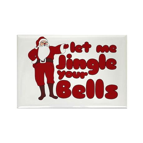 Santas Jingle Bells Rectangle Magnet (100 pack)