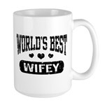 World's Best Wifey Large Mug