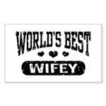 World's Best Wifey Sticker (Rectangle)