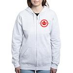 Canada Day Women's Zip Hoodie