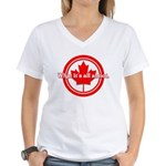 Canada Day Women's V-Neck T-Shirt