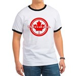 Canada Day Ringer T