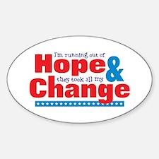 Hope & Change Decal