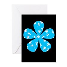 Chic Dainty Fleurs Blue Greeting Cards (Pk of 10)